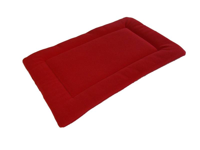 Polar Fleece Quilted Dog Pad - Red