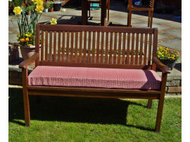 Garden Bench Cushion - Red Maze