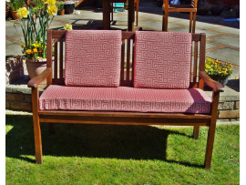 Garden Bench Cushion Set Including Back Pads - Red Maze