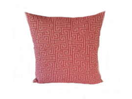 Red Maze Cushion - 45cm x 45cm - COMPLETE WITH HOLLOW FIBRE FILLED INNER