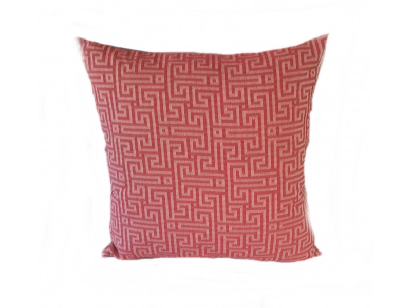 Red Maze Cushion (Large 65cm x 65cm) - COMPLETE WITH HOLLOW FIBRE FILLED INNER