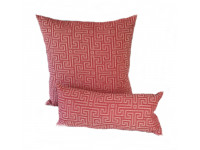 Red Maze - Cushion & Bolster Set