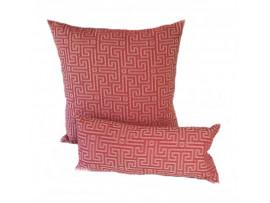 Red Maze - Cushion & Bolster Set