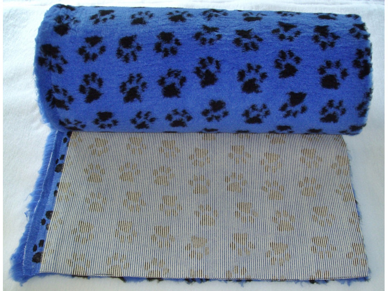 PnH Veterinary Bedding - NON SLIP - By The Roll - Blue Paws