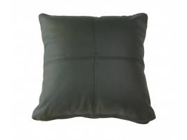 Real Leather Scatter Cushion - Small 37cm x 37cm - Green - COMPLETE WITH HOLLOW FIBRE FILLED INNER