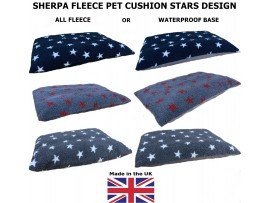 Grey with Red Stars - Mattress Dog Bed