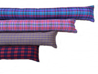 Draught Excluder - Red and Blue Tartan