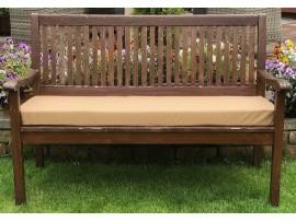 Garden Bench Cushion - Sand SHOWERPROOF
