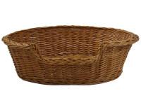 Wicker Dog Basket - Small (60cm)