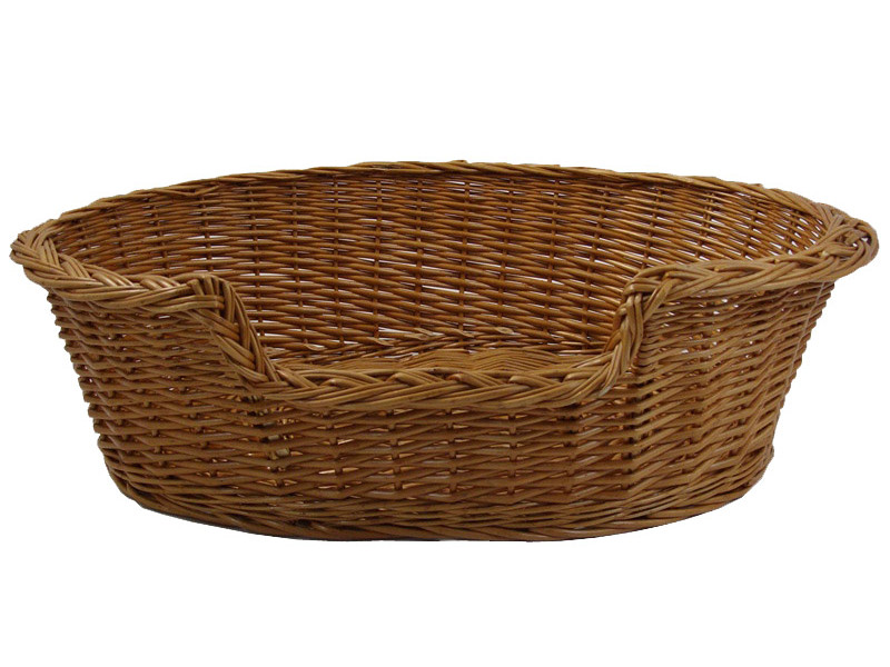 Wicker Dog Basket - Small (60cm)