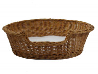Wicker Dog Basket - Small (60cm) - With Fitted PnH Veterinary Bedding ®
